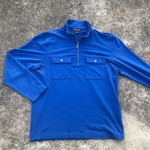 Michael Kors Quarter Zip Pocketed Pullover